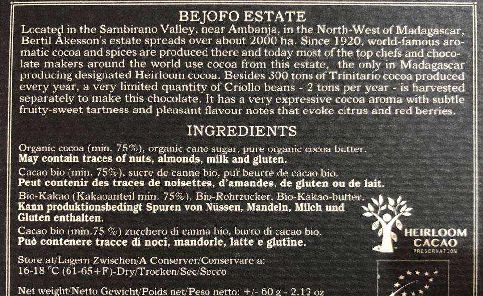 Bejofo-Ingredients